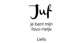 Favo-rietje sticker DIY