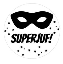 Stickervel superjuf