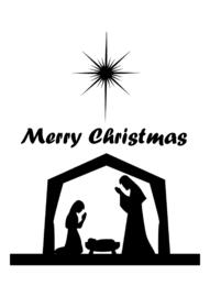 Raamsticker kerststal (statisch)