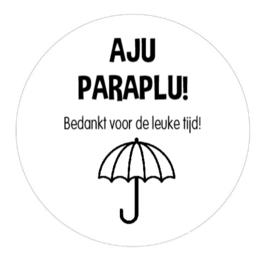 Stickervel Aju Paraplu