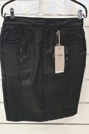 Cream - Rok leatherlook zwart