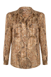 Esqualo - Blouse oversize brown paisley