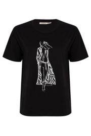 Esqualo - T-shirt women zebra coat