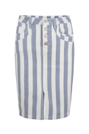 Esqualo - Skirt jeans striped