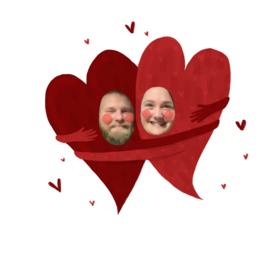 Valentijns knuffel