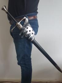 Zwart Zilveren Zwaard / Dolkhouder (SET)