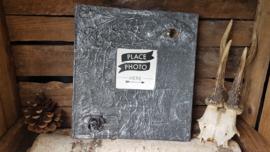 Fotoalbum zilveren draak met groen /rood oog
