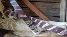 Zebra Bruin 4cm broekriem