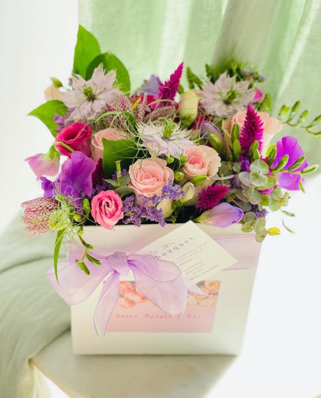 FLOWER BOX M - Lovely Lila