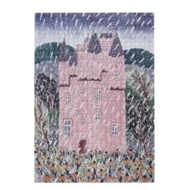 puzzel  'castle' 1000 stukjes recycled papier