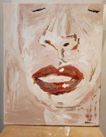 'silence' acryl op doek
