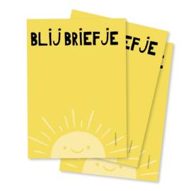 Blij Briefje -  Notitieblokje A6 - By Bean