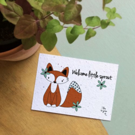 Welcome little sprout | BLOOM your message