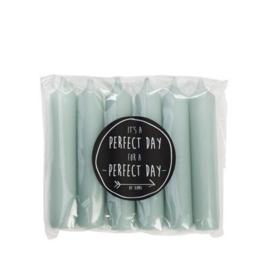 Pale green kaarsen (6 stuks)