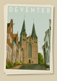 Kaart de Bergkerk | Vintage Stadsposters