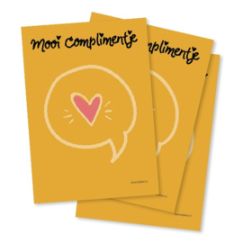 Mooi Complimentje - Notitieblokje A6 - By Bean