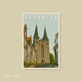 Magneet Bergkerk | Vintage Stads Posters
