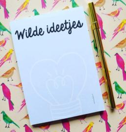 Wilde ideetjes - Notitieblokje A6 - By Bean