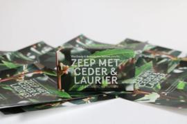 Botanische Tuinenzeep III - ceder & laurier | Werfzeep