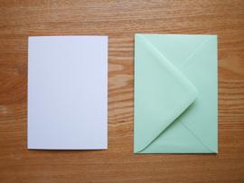Huismus kaart met envelop