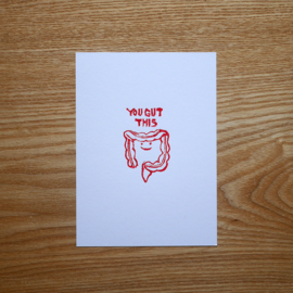 You gut this - greeting card with medical pun