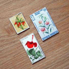 Handgemaakte postzegel koelkastmagneten, set T