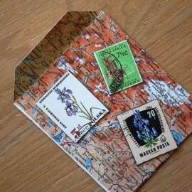 Handgemaakte postzegel koelkastmagneten, set C2