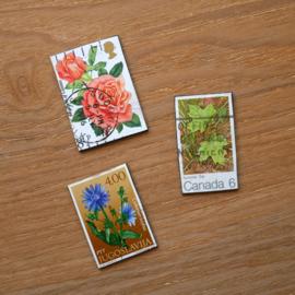 Handgemaakte postzegel koelkastmagneten, set D2
