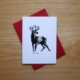 Oh deer - hand printed card with pun
