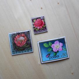 Handgemaakte postzegel koelkastmagneten, set B