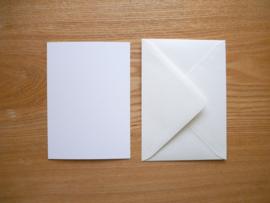 Groenling kaart met envelop