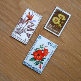 Handgemaakte postzegel koelkastmagneten, set X