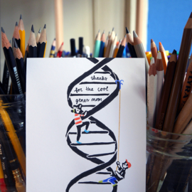 Mother's Day card with science pun DNA