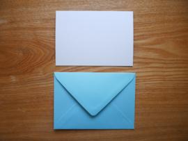 Pimpelmees kaart met envelop