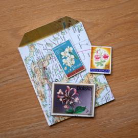 Handgemaakte postzegel koelkastmagneten, set A2