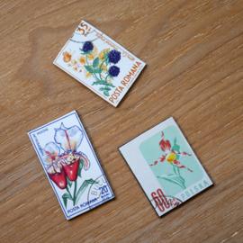Handgemaakte postzegel koelkastmagneten, set Z