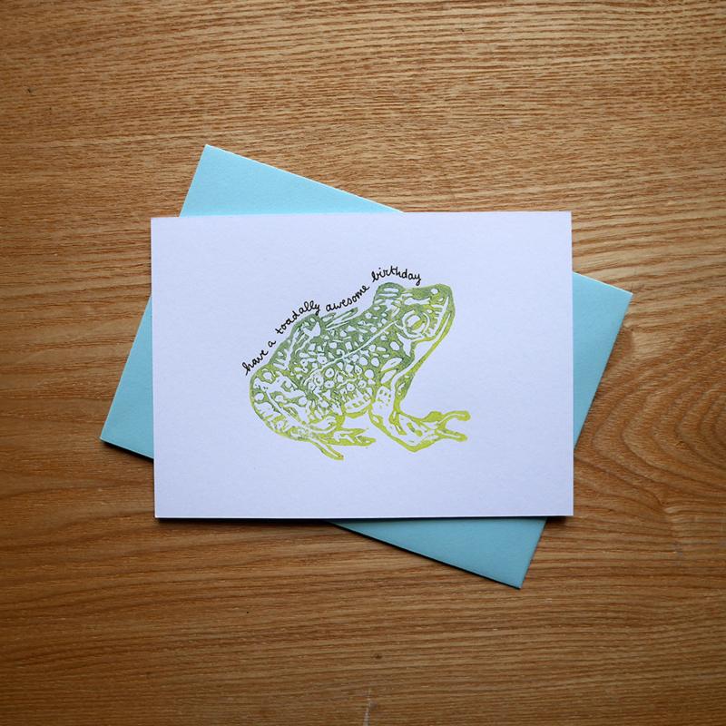 Have a toadally awesome birthday - verjaardagskaart met pun