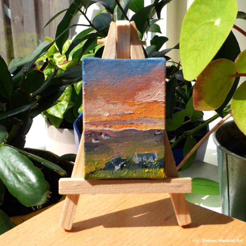 Sunset on the Isle of Skye landschapsschildering, olieverf op doek