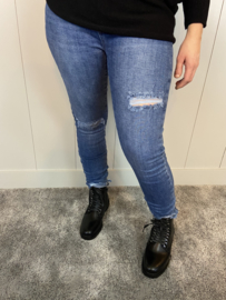 QUEEN HEARTS JEANS - 828 BLAUW