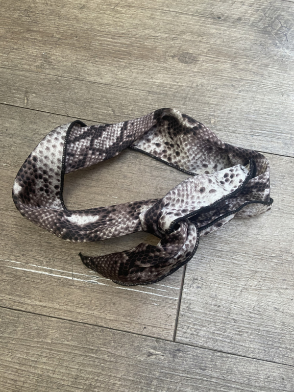 HAARBAND SNAKE - TAUPE