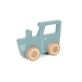 Little Dutch Houten Tractor Blauw (met/zonder naam)