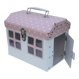 Speelkoffer Huisje Roze