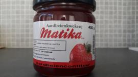 Huisbereide aardbeienconfituur 400gr