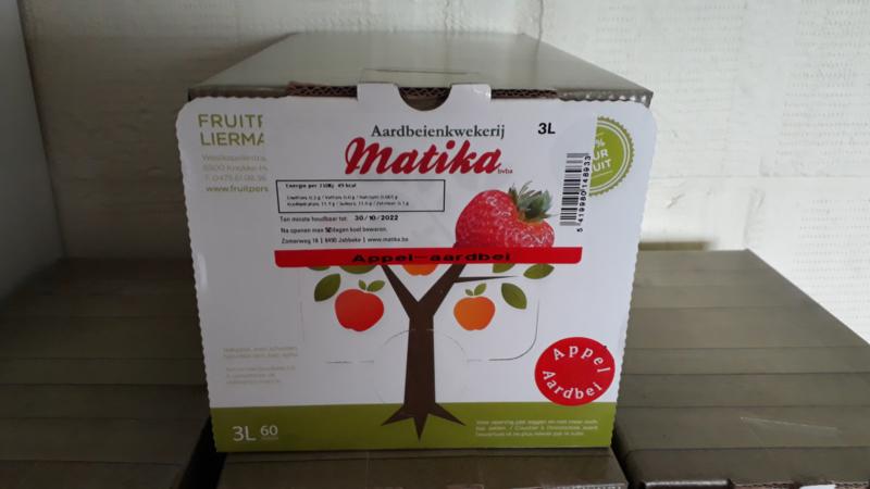 Natuurlijk appel- aardbeiensap 3L