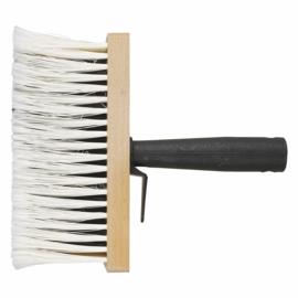 Papborstel, hout, kunststof greep