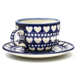 Kop en schotel Blue Valentine 440 ml
