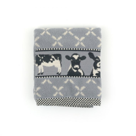 Set Handdoek en theedoek Cows Grey