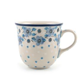 Tulpmok 200 ml koffiekopje Blue White Love