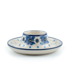 Egg cup flat Blue White Love