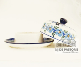 Butter Dish Round Pansy